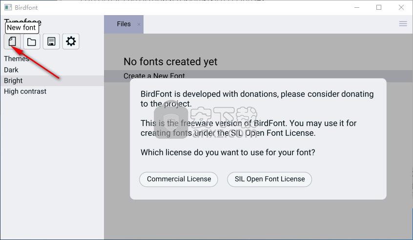 birdfont字体编辑器