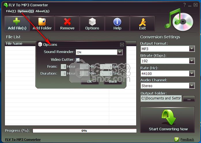 flv to mp3 Converter(flv转mp3格式转换器)