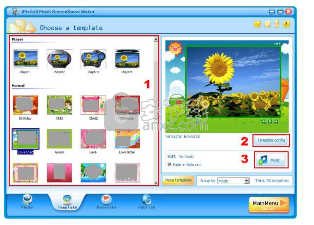 iPixSoft flash ScreenSaver Maker(屏幕保护程序制作软件)