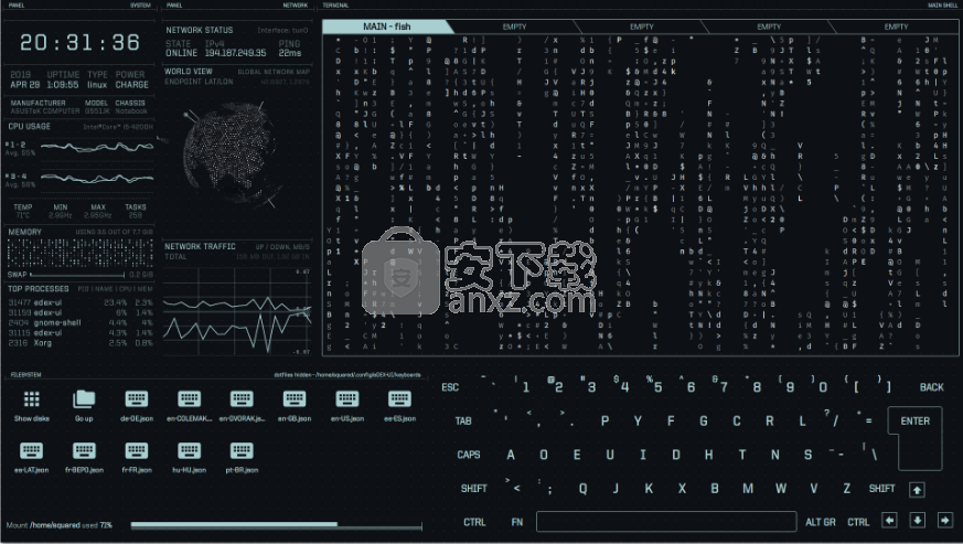 eDEX-UI(炫酷终端模拟器)