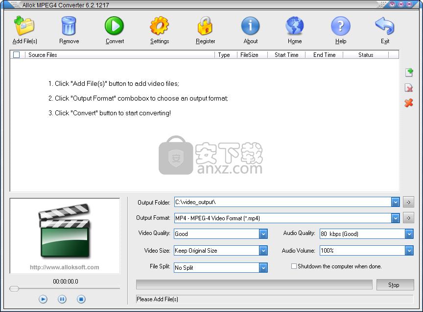 Allok MPEG4 Converter(MPEG4视频转换工具)