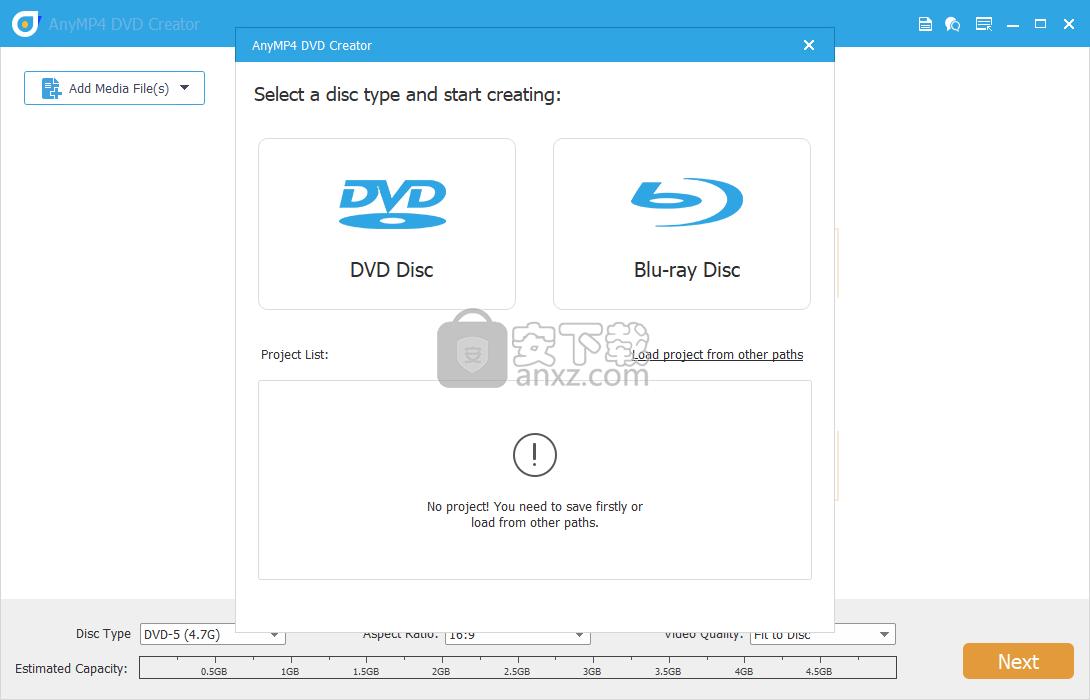 AnyMP4 DVD Creator(DVD刻录软件)