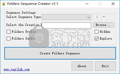 Folders Sequence Creator(批量新建文件夹工具)