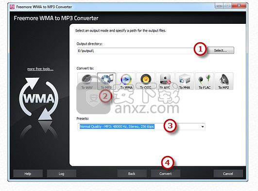 Freemore WMA to MP3 Converter(WMA转MP3转换器)