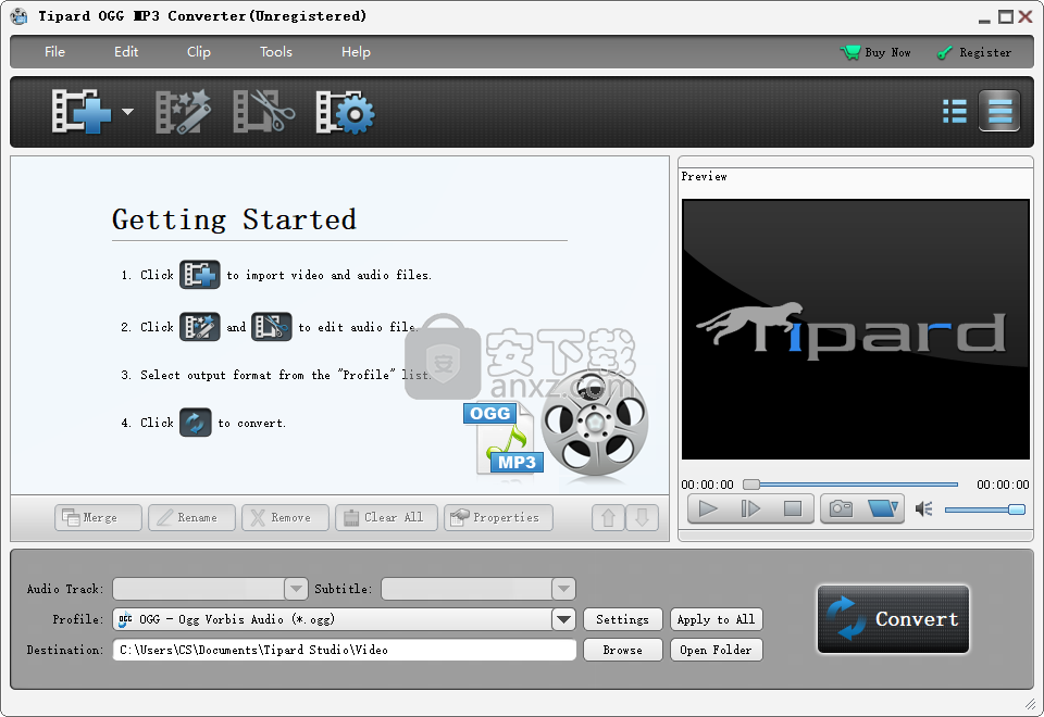 ogg格式转换器下载_Tipard OGG MP3 Converter-ogg mp3格式转换器下载 v6.1.50 官方版 - 安下载