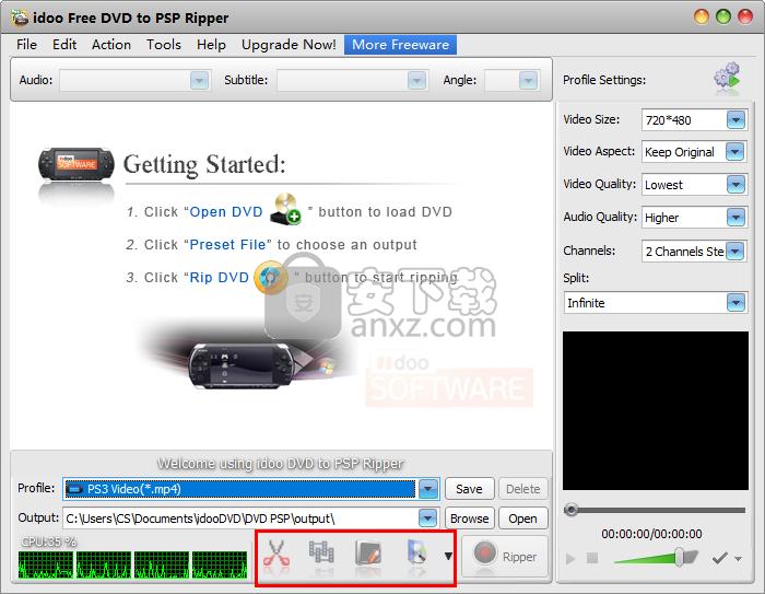 idoo Free DVD to PSP Ripper(DVD转PSP转换器)