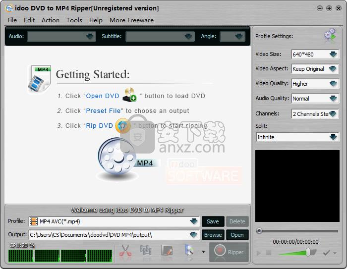 idoo DVD to MP4 Ripper(dvd转mp4格式转换器)