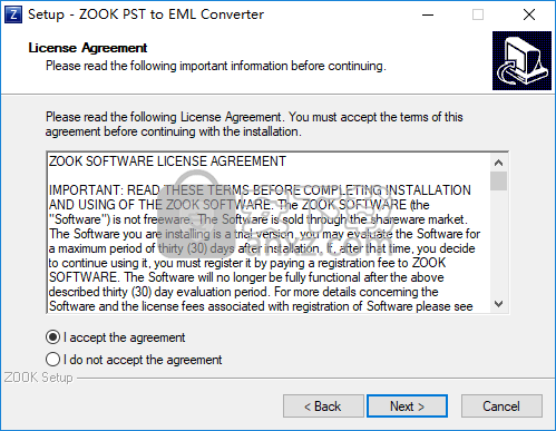 ZOOK PST to EML Converter(PST转EML转换器)