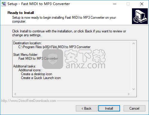 Fast MIDI to MP3 Converter(midi转mp3转换器)