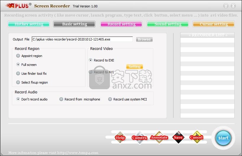 Aplus Screen Recorder(屏幕录制工具)