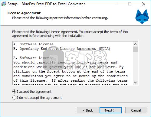 BlueFox Free PDF to Excel Converter(PDF转Excel转换器)