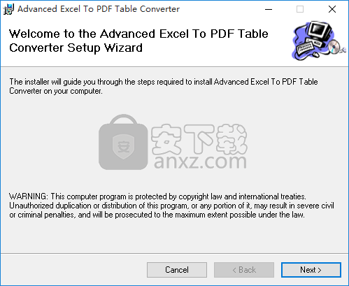 Advanced Excel To PDF Table Converter(Excel转PDF转换器)
