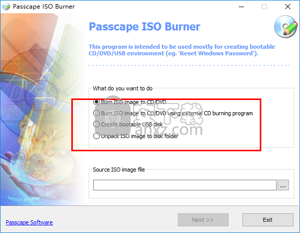 Passcape ISO Burner(USB启动盘制作工具)