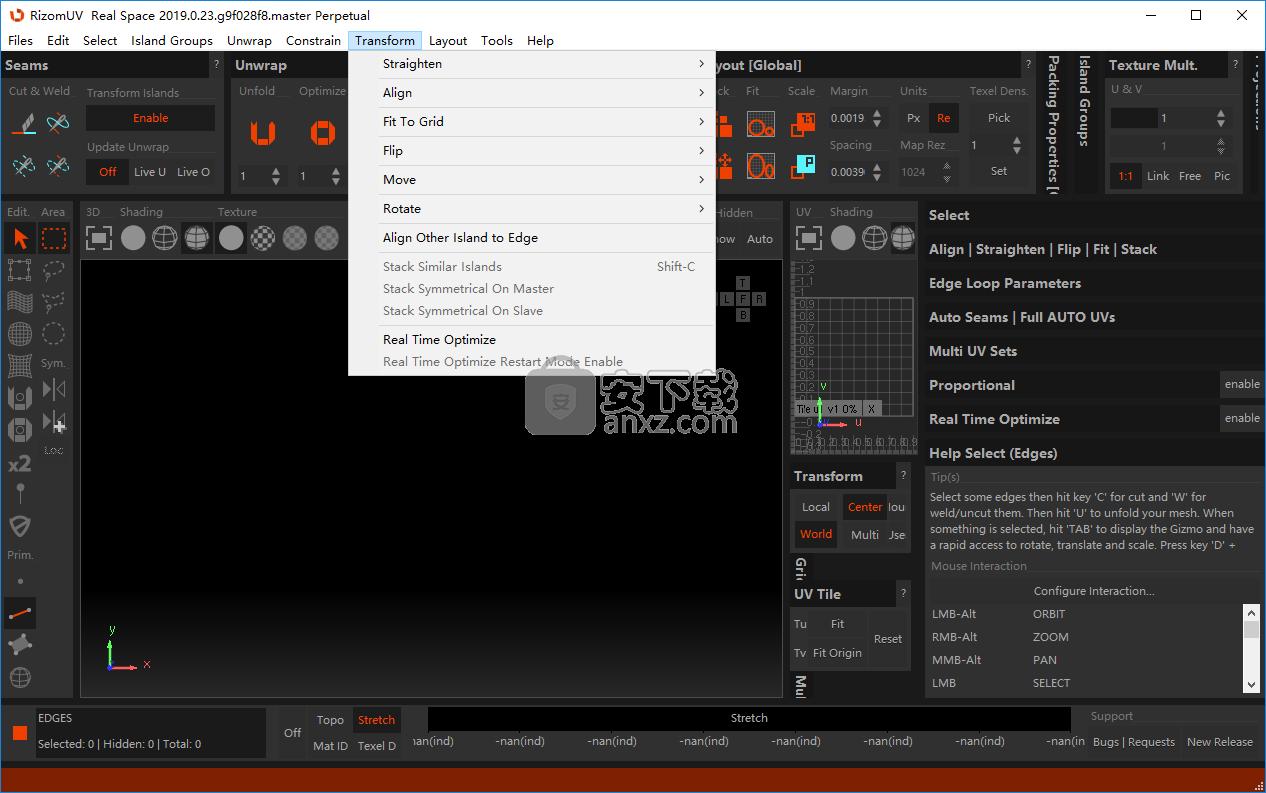 RizomUV Virtual Space(三维模型展UV软件)
