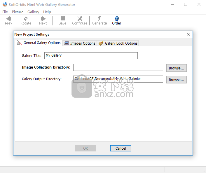 Html Web Gallery Generator(图片转html工具)