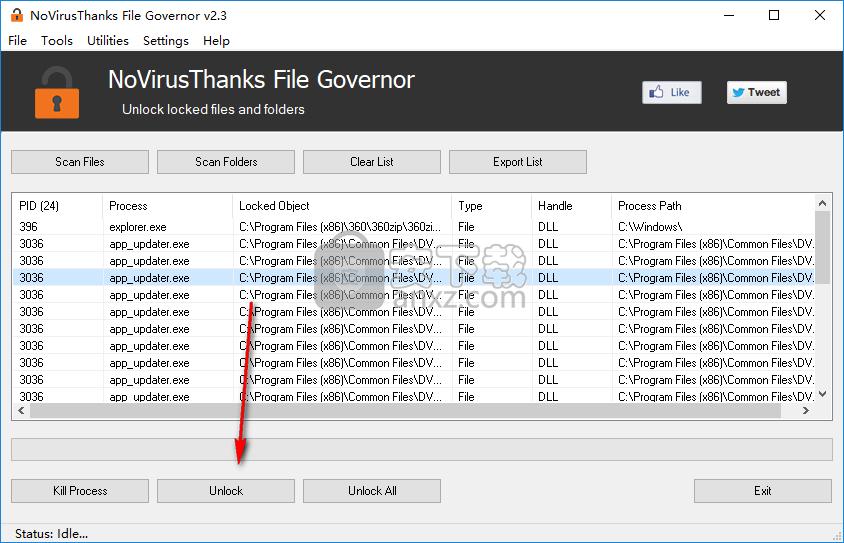 NoVirusThanks File Governor(系统文件解锁软件)