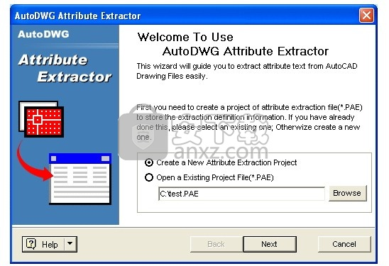 AutoDWG Attribute Extractor(CAD属性提取器)