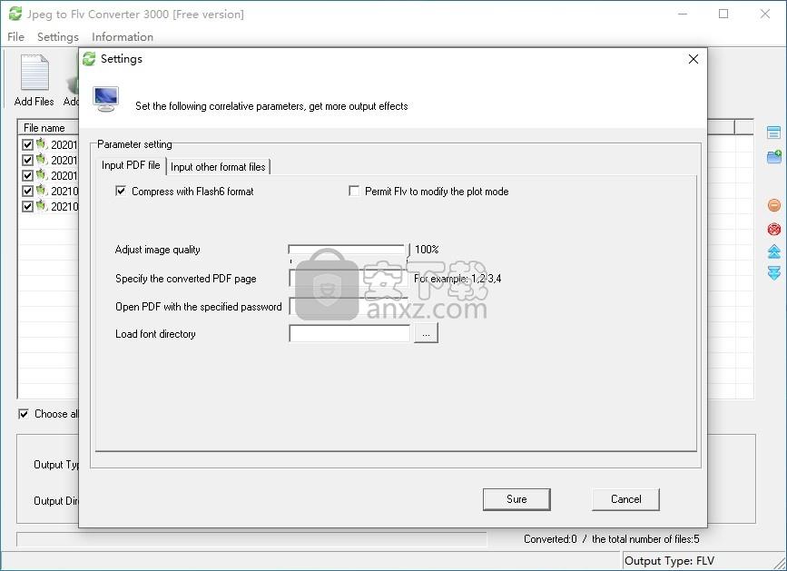 Jpeg to Flv Converter 3000(JPEG转FLV转换器)