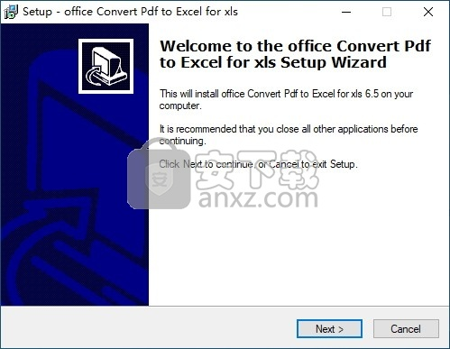 office Convert Pdf to Excel for xls(PDF转Excel转换器)